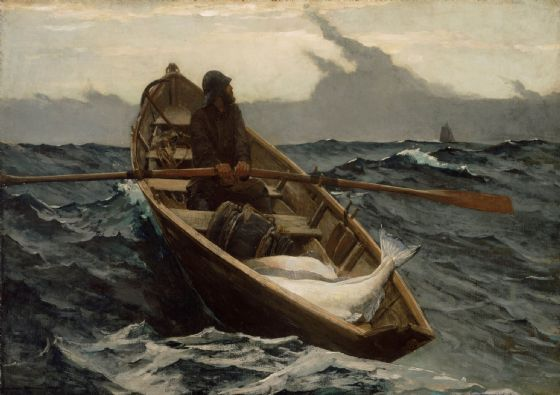 Homer, Winslow: The Fog Warning/Halibut Fishing. Fine Art Print/Poster. Sizes: A4/A3/A2/A1 (0051)